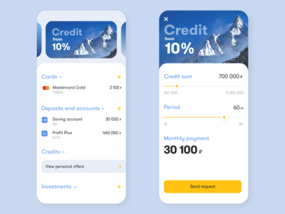 Mobile UI #2. Mobile bank. Credit Request