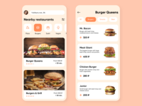 Mobile UI #4. Food delivery app.