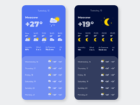Mobile UI #5. Weather app.
