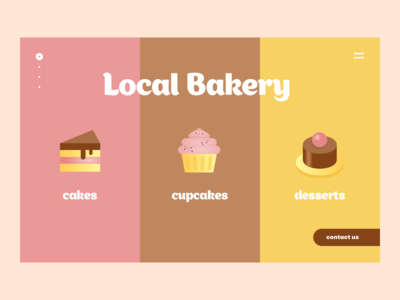Bakery website cover