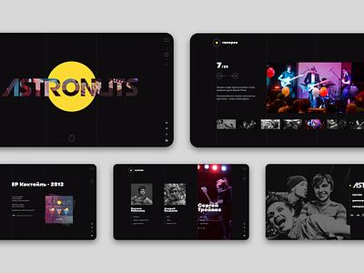 Indie rock band website music rock website design website web webdesign