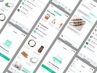 Artisan. E-commerce app. More screens.
