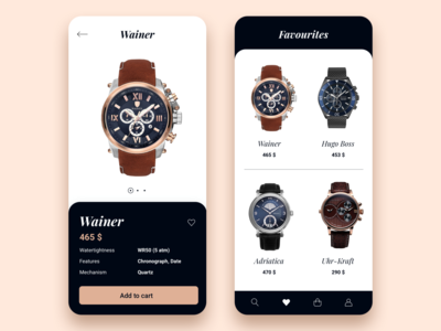 Watches store app