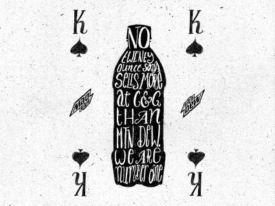 Hand Lettered Playing Card Concept