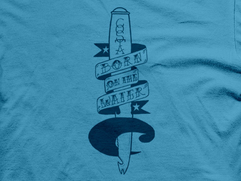 Costa Del Mar Shirt Concept costa tattoo dagger banner hand lettered sailor fisherman typography hand drawn drew wallace costa del mar t shirt