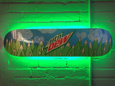 Mountain Dew Skateboard Neon Sign