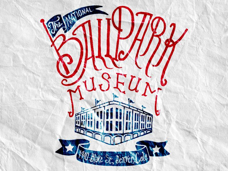 Ballpark Museum baseball ballpark museum hand-lettered hand drawn logo drew wallace america dever colorado