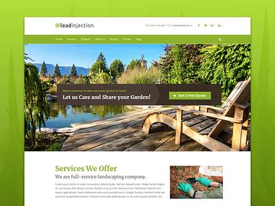 Landscape Landing Page landing page themeforest landscaper landscaping gardening theme wordpress gardener landscape