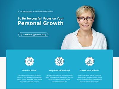 Business Coach Landing Page themeforest theme training mentor wordpress coaching coach