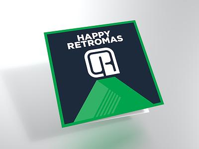 Retromas Card 01 mockup flat card chistmas