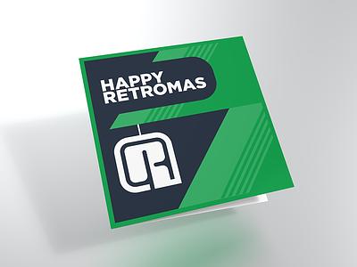Retromas Card 02 mockup flat card christmas