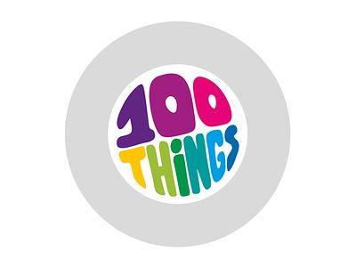 100THiNGS Colour circle branding identity logo