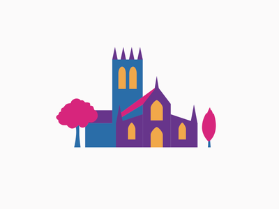 Doncaster Minster abstract church building architecture illustration