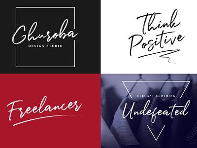 Logo & Lettering (Julietta Messie brush script typography branding logo handwritten