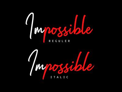 Impossible | Handwritten Font typography logo typeface fonts design branding handwritten