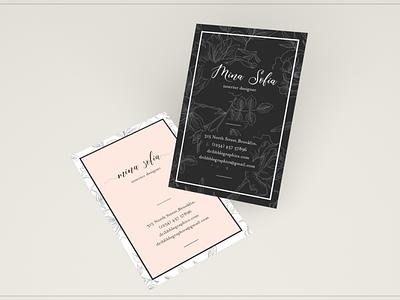 Card | Aisyah Font business card fonts design branding