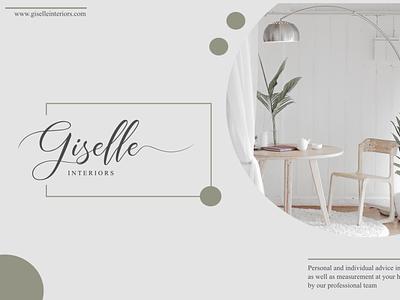 Giselle Interiors | Aisyah Lovely Script script logo fonts design branding