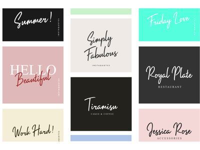 Branding and Logo | The Impossible Font typeface handwritten typography fonts logo design branding