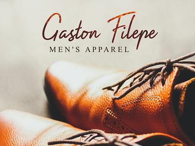 Men's Apparel typeface handwritten logo design branding
