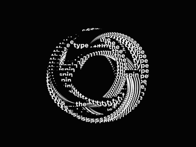 Creative Coding ° spin the type graphics generative code coding creative processing p5js kinetic motion animation typography type spin