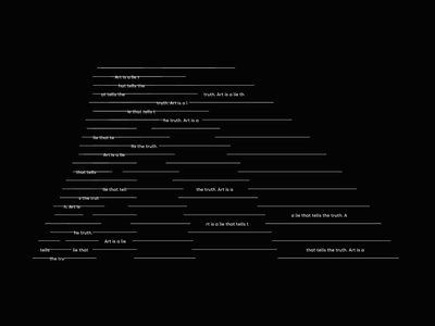Creative Coding ° Art is a lie picasso math line animation generative minimal art graphics motion coding creative