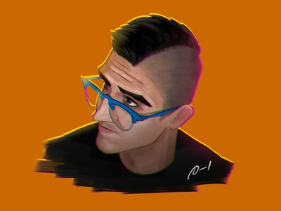 Self Portrait | Digital Illustration digital illustration digitalart selfportrait portrait drawing illustration