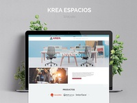 Krea Espacios Website