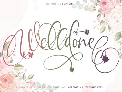 Welldone font family handwritten signature calligraphy script fonts design illustration