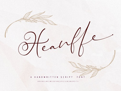 Heanffe typography font family fonts script illustration design calligraphy handwritten signature