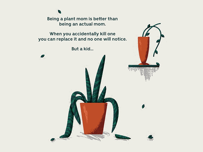 Download Thoughts on being a plant mom by Sydney Goldstein on Dribbble
