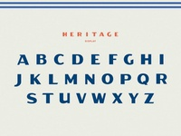 Heritage Pizza Typeface