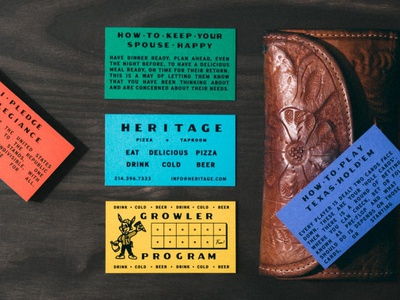 Heritage Cards design vintage typography lettering