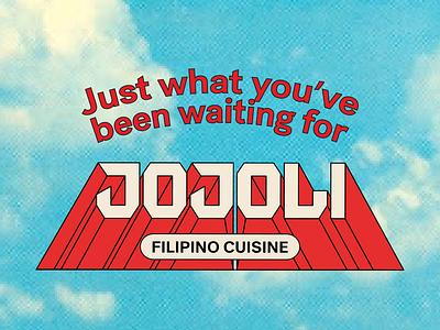 Jojoli Logo 1 perspective 3d rocket mark logotype type vector typography lettering