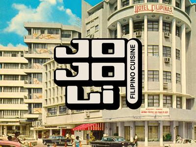 Jojoli Logo 3 lettering typography vector type vintage logo geometric logotype perspective 3d dimensional lettering