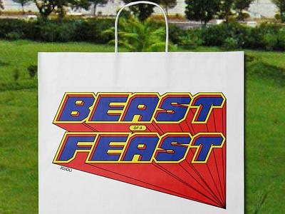 Jojoli Big Boy Bag comic superhero packaging lettering typography vector type vintage logo geometric logotype perspective 3d dimensional lettering