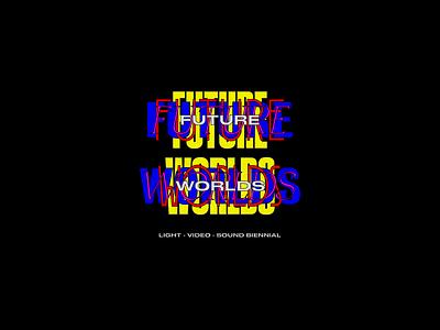 Future Worlds Logo branding typography logo sydney goldstein