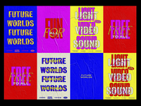 Future Worlds Wheat Posters