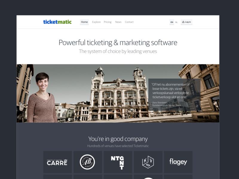 Ticketmatic ticketing webapp