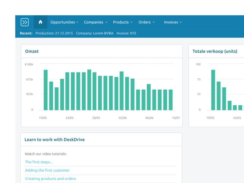 DeskDrive erp webapp