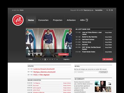 Ancienne Belgique webdesign
