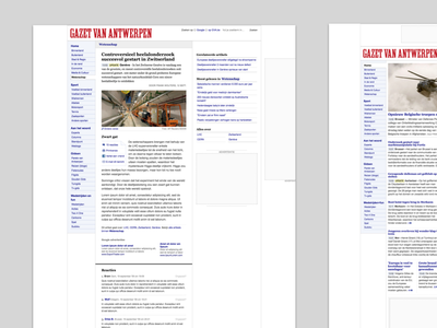 Gazet van Antwerpen ads design newspaper