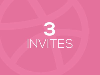 3 Dribbble Invites - Get drafted! invite invites dribbble invites dribbble invitation draft