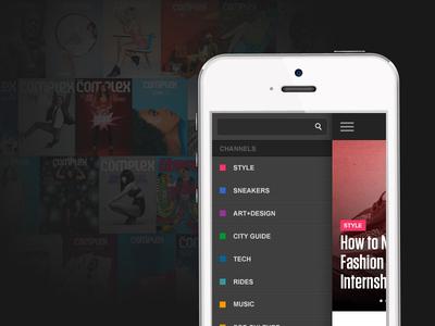 Sneak Peek complex mobile redesign slide coming soon