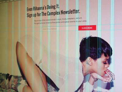 Even Rihanna's Doing it. email newsletter signup grid