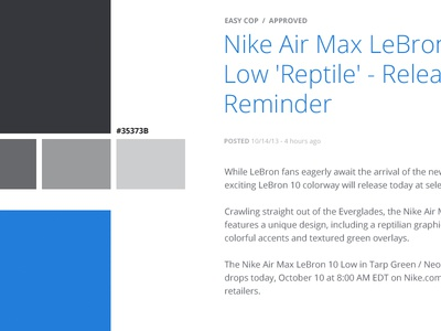 Color Style Guide style guide