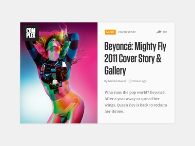 Beyonce Embed Card complex beyonce embed card