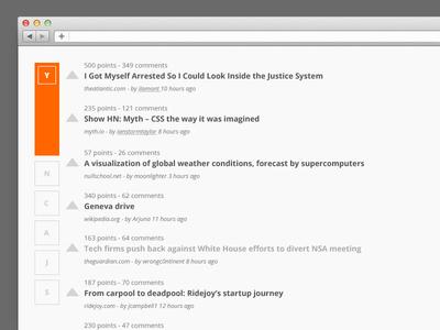 Hacker News hacker news redesign ui news navigation