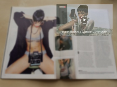 Interactive Magazine with Google Glass