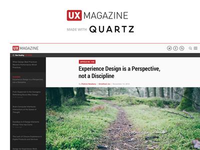 UX Magazine + Quartz Mashup redesign ux ui ux magazine quartz layout magazine