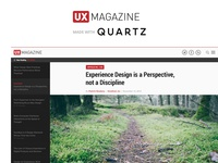 UX Magazine + Quartz Mashup